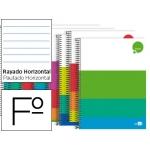 Bloc espiral Liderpapel tamaño folio dream tapa extradura 80 hojas 80 gr/m2 horizontal con margen colores surtidos