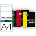 Bloc espiral Oxford tapa extradura microperforado projectbook4 tamaño A4 120 hojas 90 gr horizontal colores