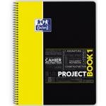 Bloc espiral Oxford tapa plástico microperforado projectbook1 tamaño A4 80 hojas 90 gr cuadros 5 mm color amarillo