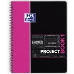Bloc espiral Oxford tapa plástico microperforado projectbook1 tamaño A4 80 hojas 90 gr cuadros 5 mm color rosa app