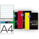 Bloc espiral Oxford tapa plástico microperforado projectbook1 tamaño A4 80 hojas 90 gr horizontal colores