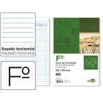 Bloc exámenes Liderpapel horizontal tamaño folio 40 hojas 60 gr/m2