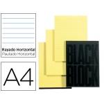 Bloc notas Exacompta horizontal tamaño A4 70 hojas en color amarillo
