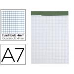 Bloc notas Liderpapel cuadrícula de 4 mm A6 80 hojas 60 gr/m2 perforado sin tapa