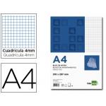 Bloc notas Liderpapel cuadrícula de 4 mm tamaño A4 80 hojas 60 gr/m2