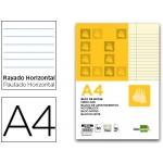 Bloc notas Liderpapel horizontal tamaño A4 50 hojas amarillas 60 gr/m2 encolado