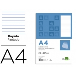 Bloc notas Liderpapel horizontal tamaño A4 80 hojas 60 gr/m2