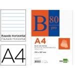 Bloc notas Liderpapel horizontal tamaño A4 80 hojas 60 gr/m2 encolado