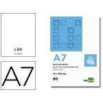 Liderpapel BN10 - Bloc de notas, A7, liso, perforado, 80 hojas de 60 gramos