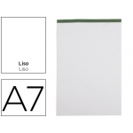 Bloc notas Liderpapel liso A7 80 hojas 60 gr/m2 perforado sin tapa