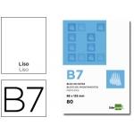 Bloc notas Liderpapel liso b7 80 hojas 60 gr/m2 perforado
