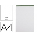 Bloc notas Liderpapel liso tamaño A4 80 hojas 60 gr/m2 perforado sin tapa