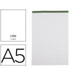 Bloc notas Liderpapel liso tamaño A5 80 hojas 60 gr/m2 perforado sin tapa