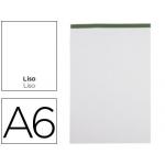 Bloc notas Liderpapel liso tamaño A6 80 hojas 60 gr/m2 perforado sin tapa