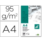 Bloc papel vegetal Liderpapel encolado 210x297 mm 50 hojas 95g/m2