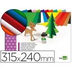 Liderpapel TM03 - cartón ondulado, bloc de 10 hojas de 240 x 315 mm, colores surtidos