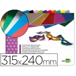 Liderpapel TM10 - Bloc de trabajos manuales, cartulina metalizada, 240 mm x 315 mm, 10 hojas, colores surtidos