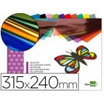 Bloc trabajos manuales Liderpapel celofan 240x315 mm 10 hojas colores surtidos