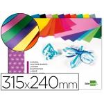 Bloc trabajos manuales Liderpapel charol 240x315 mm 10hojas colores surtidos