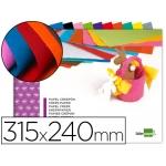 Bloc trabajos manuales Liderpapel crespon 240x315 mm 10 hojas colores surtidos