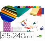 Bloc trabajos manuales Liderpapel papel metalizado 240x315 mm 10 hojas colores surtidos