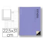 Bloc triplex Additio plan curso evaluación continua plansemanal tutorias mas 6 fundas ransparentes 22,5x31 cm catalan