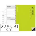 Bloc triplex Additio plan de curso evaluación agenda plan semanal y tutorias fundas transparentes 22,5x31 cm