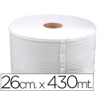 Bobina celulosa industrial 26 cm s de ancho x 400 mt s aprox diámetro de 33,5 cm para el dispensador