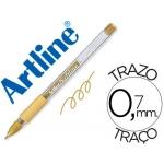 Bolígrafo Artline softline tinta aceite metálico color oro