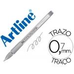 Bolígrafo Artline softline tinta aceite metálico color plata