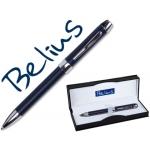 Bolígrafo Belius 125 color azul roma en estuche