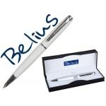 Bolígrafo Belius aberdeen lacado color blanco en estuche