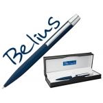 Bolígrafo Belius berna color azul en estuche