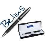 Bolígrafo Belius chester con capuchón lacado color negro en estuche