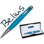 Bolígrafo Belius color azul capri en estuche