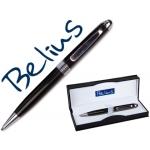 Bolígrafo Belius color negro florencia en estuche