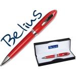 Bolígrafo Belius color rojo malaga en estuche