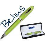 Bolígrafo Belius color verde malaga en estuche