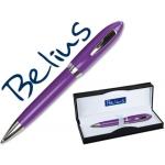 Bolígrafo Belius color violeta malaga en estuche