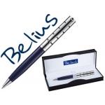 Bolígrafo Belius copenhague color azul lacado y plata en estuche