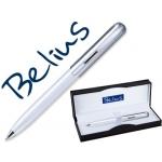 Bolígrafo Belius kazan color blanco en estuche