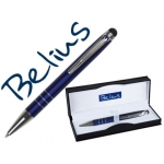 Bolígrafo Belius minsk con puntero para pantallas táctiles color azul en estuche