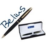 Bolígrafo Belius rennes color negro oro en estuche