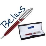 Bolígrafo Belius varsovia color rojo lacado con detalles cromados en estuche