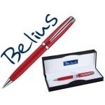 Bolígrafo Belius vilna color rojo en estuche