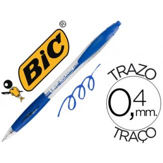 Bolígrafo Bic atlantis color azul retractil tinta aceite punta de 1 mm