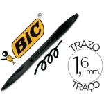 Bolígrafo Bic atlantis color negro retractil tinta aceite punta 1,6 mm