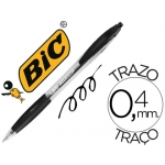 Bolígrafo Bic atlantis color negro retractil tinta aceite punta de 1 mm