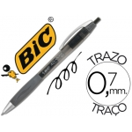 Bolígrafo Bic atlantis color negro retractil tinta gel punta 1 mm