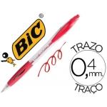 Bolígrafo Bic atlantis color rojo retractil tinta aceite punta de 1 mm